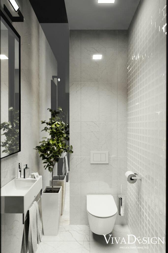 Wizualizacja toalety w domu jednorodzinnym w Rzeszowie, viva design, architekt wnętrz, pod klucz, projektowanie wnetrz, projekty wnętrz, Kraków, COLORKER Corinthian Pearl 219126, COLORKER Corinthian Pearl 219122, COLORKER Corinthian CrossedPearl 219120, Catalano NEW ZERO 40x23 - cod. 14023VE00, Catalano NEW ZERO Wc 45x35 - cod. 1VSV45N00,