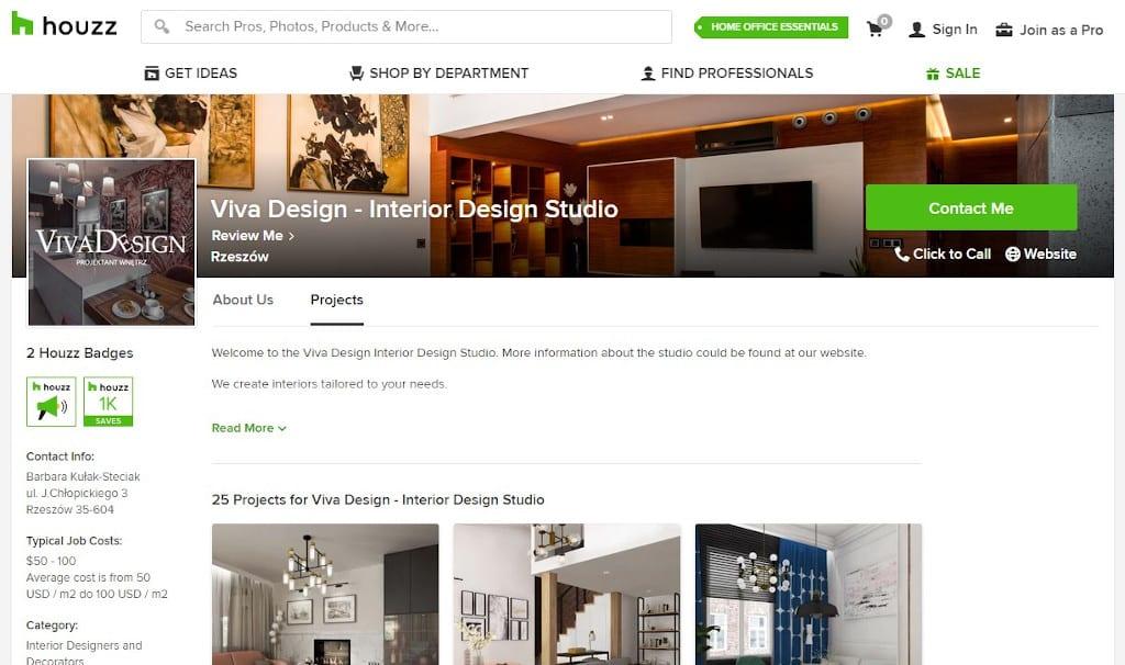 Houzz publikacja Viva Design